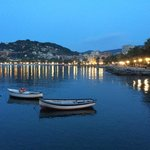 At sunset most photos become picture postcards in Rapallo and the area .
