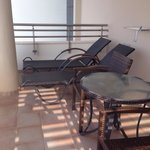 Sun loungers that get sun 1pm onwards on corner suite level 1