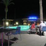 Poolside Evening Dining Area (Small Pool)