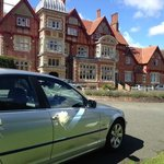The Main Reception of Pendley Manor Hotel!