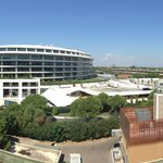 Panoramic view from our room in A block