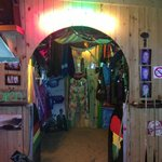 Colourful bar with good music!