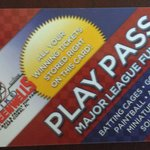 New play pass card for the whole park!