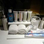 Free toiletries in our room