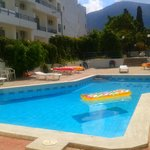 Pool is shared between 2 hotels - Thalia and Iro