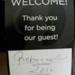 Our room was cleaned by Rebecca - THANKS!