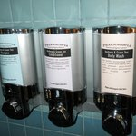 Eco-friendly bathroom amenities - loved the organic shampoos and soap dispensers