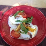 Eggs Benedict! These tomatoes were outstanding.  Yum!!!