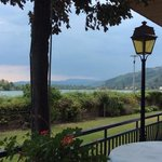 view from the patio, overlooking the Rhone
