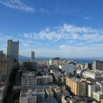 View of bay and Coit Tower by day.
