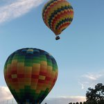 Hot Air Balloons take off right next to the property - a must see
