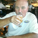 Ron enjoyed the local beer
