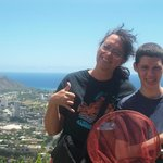 My daughter returns to Oahu and shares the view with her mainland born son.