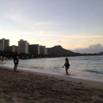 View on the beach- Diamond head in background