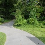 Path to nature trail behind Sugarlands