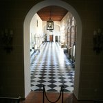 hallway outside the courtyard and reception
