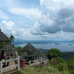 View from the public park at Taal Volcano