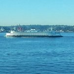 the ferry from penthouse window...incredible views