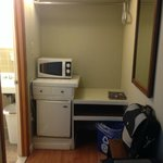 Microwave and Refrigerator Area
