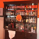 bar area, all these bottles are EMPTY!!!