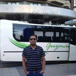 In front of hotel
