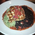 Grilled chicken, Cilantro Rice and Black Beans