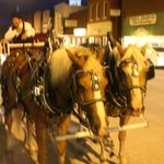 Every dining guest was invited to a free carriage ride after dinner.
