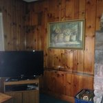 Nice knotty pine and TV