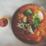 Nyonya laksa at Jonker Hotel Cafe.