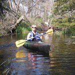 Kayaking down Cedar Creek