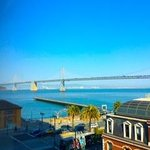 The view from room 624!  San Francisco Bay Bridge