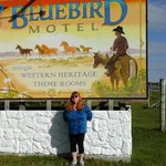 love that sign with the bluebird