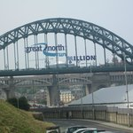 The iconic Tyne bridge just after the Great North Run
