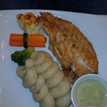 red snapper with mashed potatoes