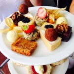 Afternoon tea cakes at Fistral Spa