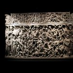 A stunningly carved sarcophagus