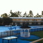 Outdoor Pool in the Early Morning