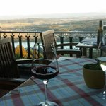 Dining on the patio above the Danube River