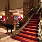 Staircase in Hotel Lobby