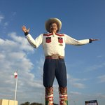Big Tex just happened to be in town. How lucky were we?