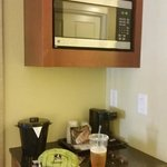 Microwave and coffee maker