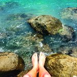 My feet and the ocean water