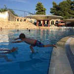 Salt water pool - great for kids who are learning to swim !