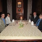 dinner in the Larnach Castle dining room