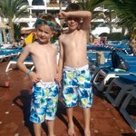 Our boys, day one by the beautuful pool!