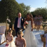 Coming down the aisle in the Olive Grove