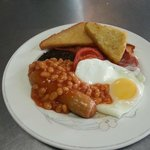 A hearty breakfast to set you up in the morning, cooked fresh and served piping hot
