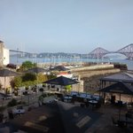 Super view from window table. The two Forth bridges.