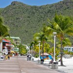 The boardwalk in Philipsburg
