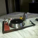 Piping hot room service breakfast!